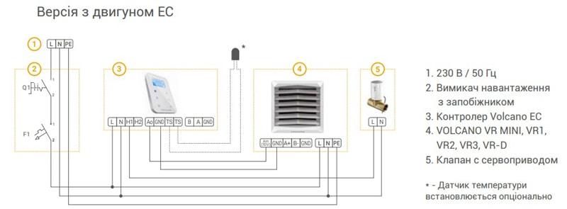 Схема підключення Volcano EC